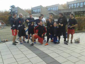 Das Ultimate Frisbee Team gewinnt das Inside Outside Turnier in Regensburg Ende Oktober 2016